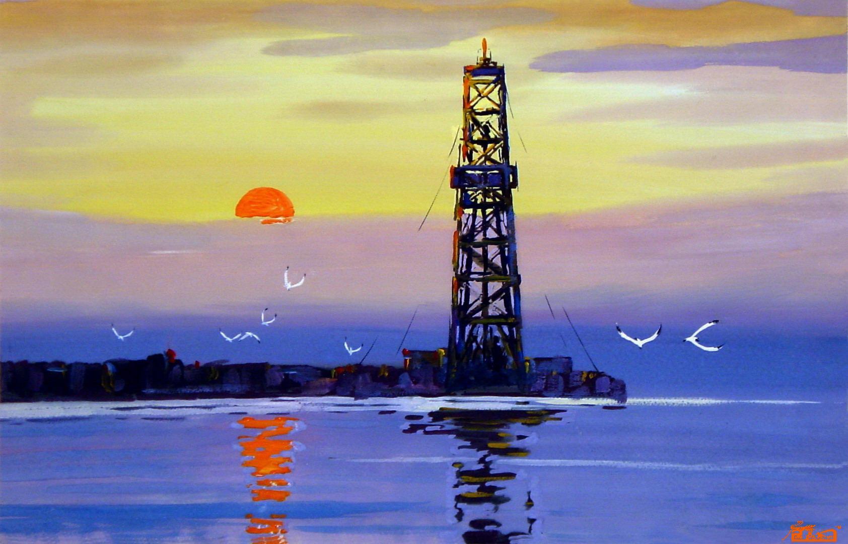 大海的风景的图画